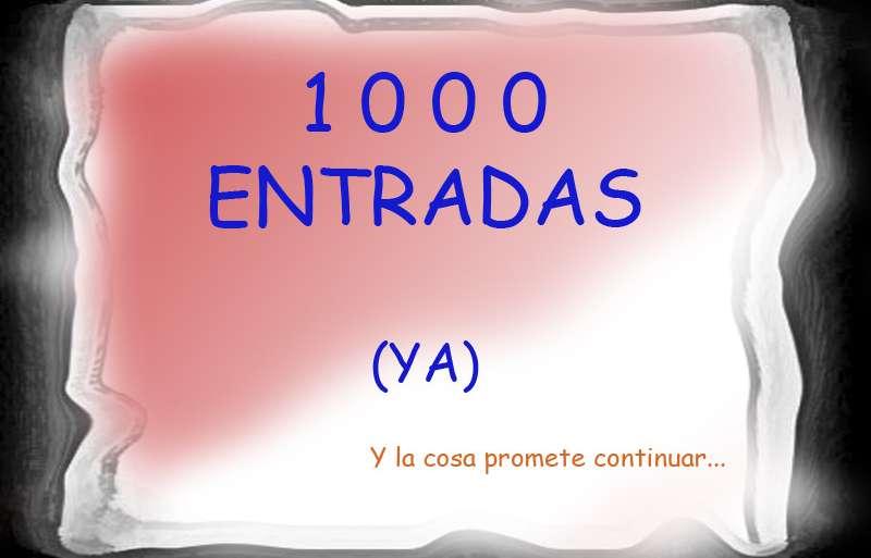 MIL (1.000) ENTRADAS DE BLOG
