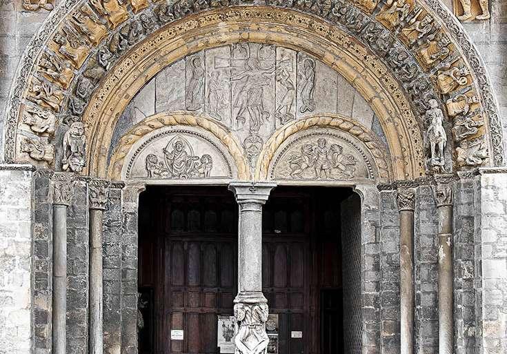 Portada de la catedral de Oloron-Sainte-Marie